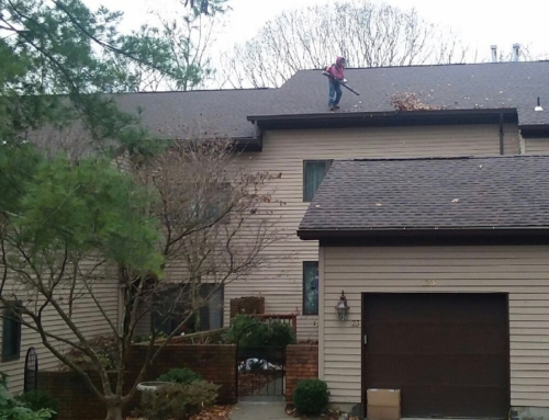 Gutter Cleaning at a Condo Complex in Mahwah, New Jersey