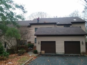 Gutter Cleaning of a Mahwah Condo Complex by Superior Seamless Gutters
