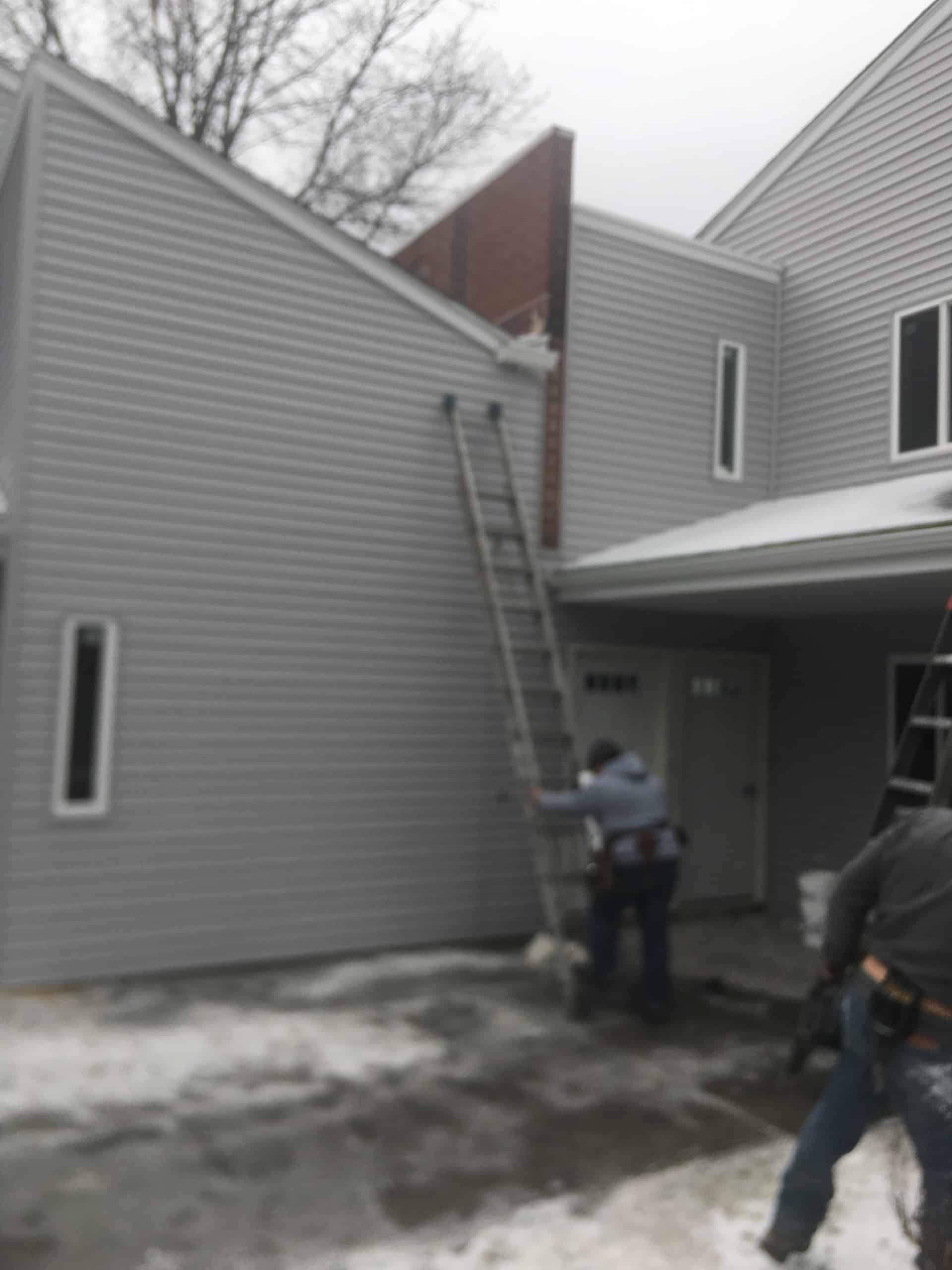Replacing Fire Damaged Gutters in Spring Valley, New York