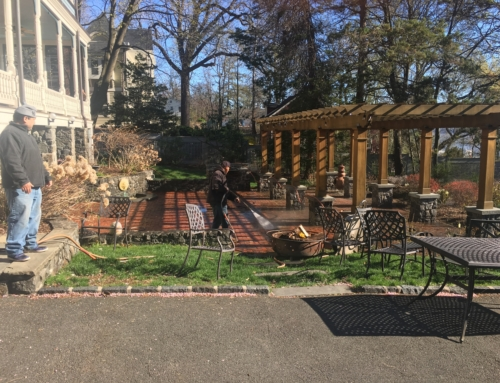Power Washing of a Patio in Nyack, New York