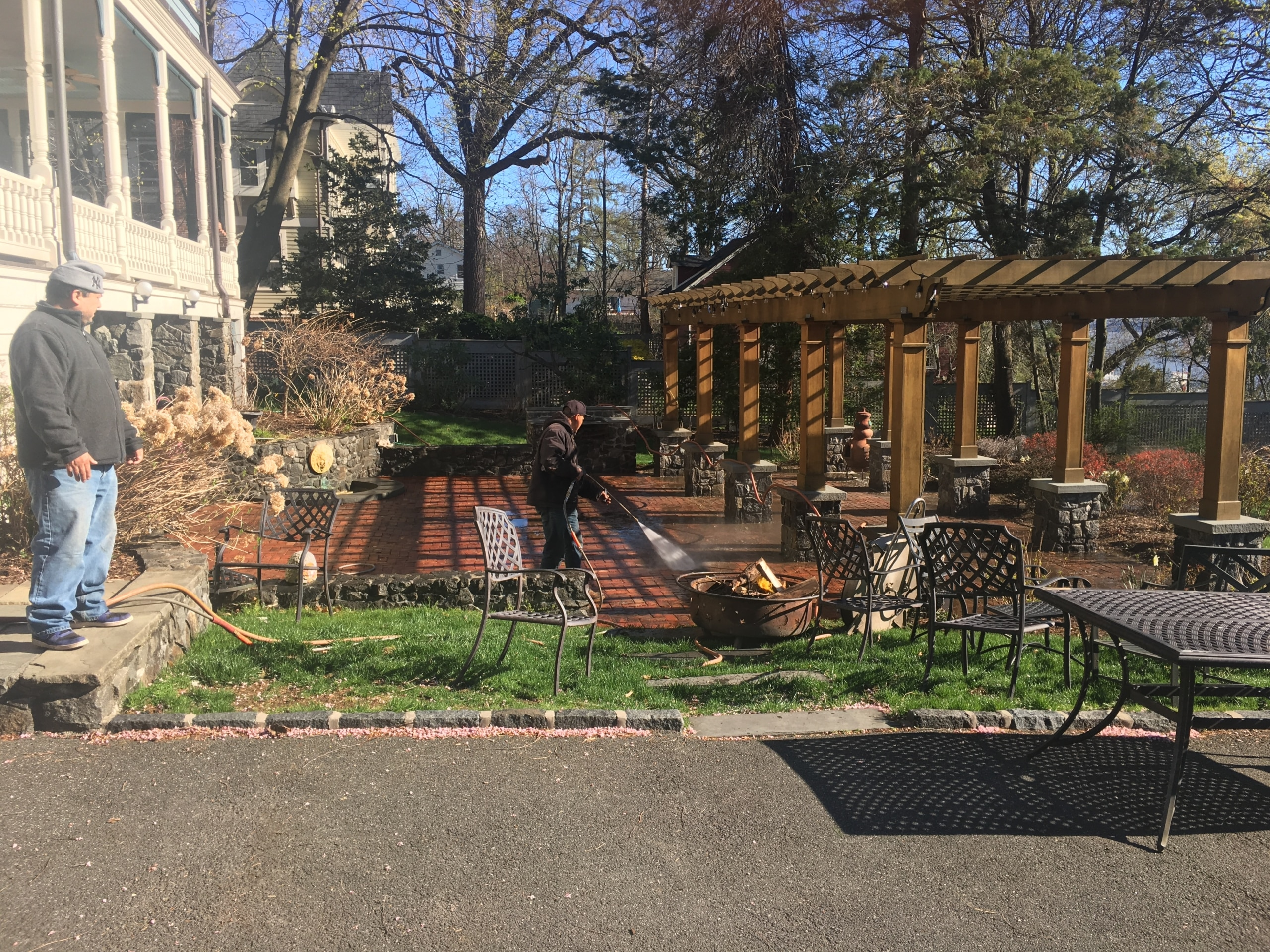 Power Washing Patio in Nyack NY by Superior Seamless Gutters