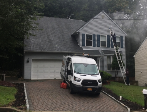 Roof Cleaning and Power Washing of a Home in Westwood, NJ