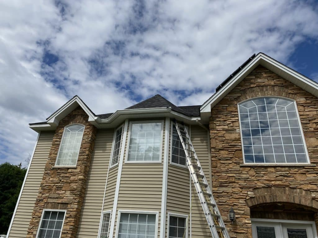 gutter installation in thiells ny by superior seamless gutters
