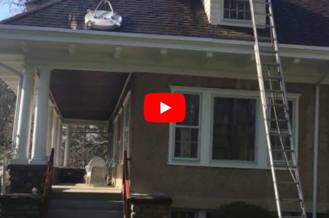 roof cleaning of a home in Bergen County to see how quickly and effectively it works.