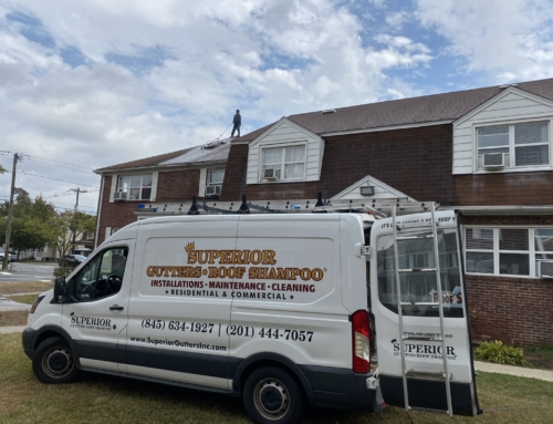 Roof Cleaning of an Apartment Building in Bergen County
