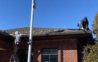 Superior Seamless Gutters Team Installing Bronze Gutters on Sloatsburg Post Office