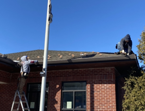 New Gutter Installation at the Sloatsburg Post Office